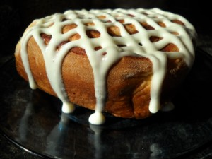 Cinnamon rolls for breakfast can't be beat!
